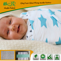 2016 New Products Organic Cotton Muslin Printed blankets
