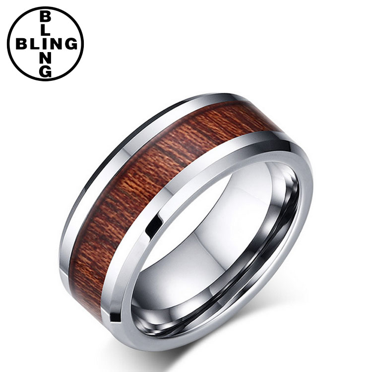 >>>Hot Sale Unisex Wood Tungsten Rings Tungsten Carbide Rings