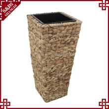 High quality outdoor plant water hyacinth fiber cheap garden large clay flower pots