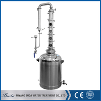 Fuyang buda distiller copper/ 96% edible alcohol distiller/ micro home alcohol distiller