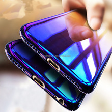 transparent multi color ombre mobile phone accessories ultrathin phone case