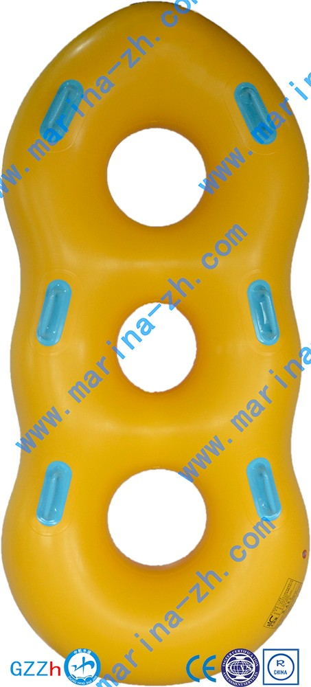 2016customised safety yellow cheap Lazy River Equipment with towable