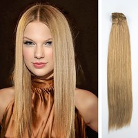Cheap 100% human hair 100g-200 grams clip in hair extensions full head clip in hair extensions free sample