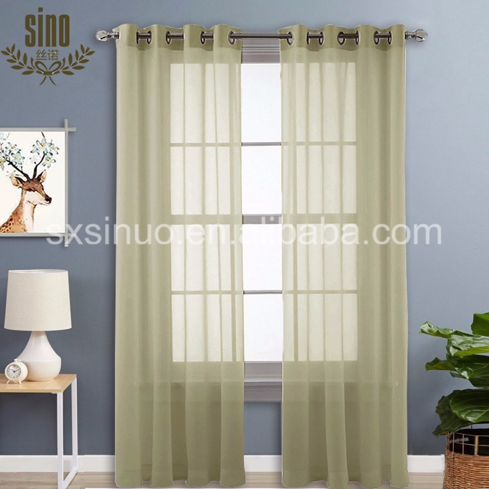 Ready Made Window Decorative Bedroom luxury sheer manual curtains