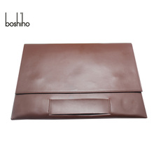 Boshiho high quality leather laptop bag clutch laptop case for macbook