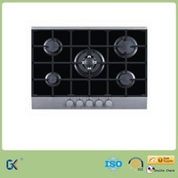 Glass Top 5 Burners Gas Cookers/Gas Stoves With Electronic Ignition