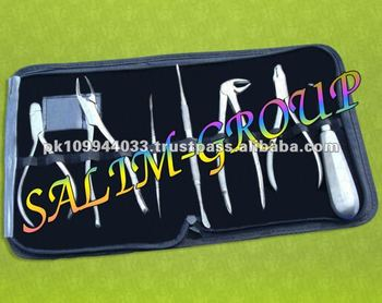 DENTAL INSTRUMENTS KIT 11 PC BRACKET TWEEZER SPATULA