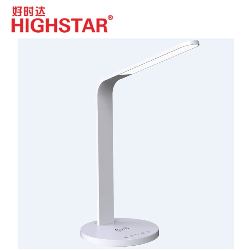 QI wireless charger desk lamp flexible dimmable LED table lamp