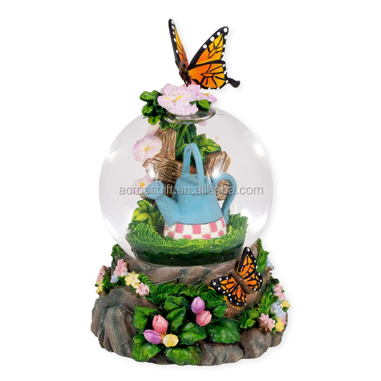 butterfly water globe and snow globe custom
