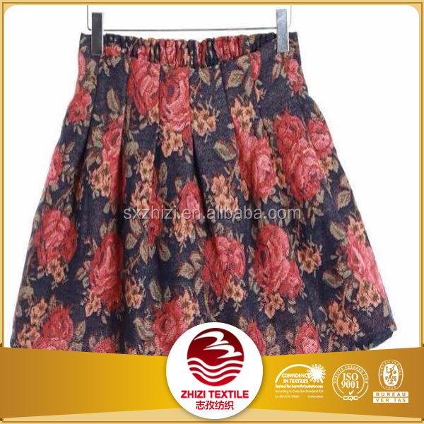 wholesale polycotton beautiful girls fashion skirt new style floral duck dresses in jacquard fabric