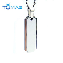 Custom cheap dog tags blank stainless steel metal dog tag
