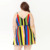 Plus Size Striped Wrap Dress Women Dresses Summer Casual