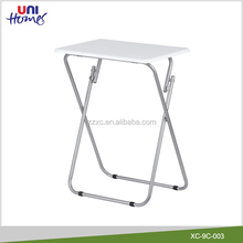 Small Metal Folding Tea Table With MDF Top