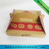 simple design corrugated pizza paper box with handle