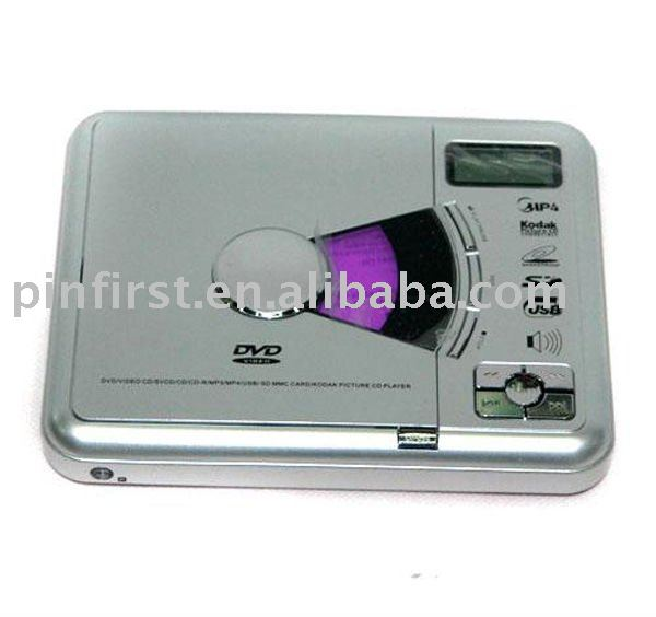 New Silver Portable DVD Player