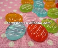 Kawaii 3d flatback jelly resin food,resin mobile phone decorations,resin charms
