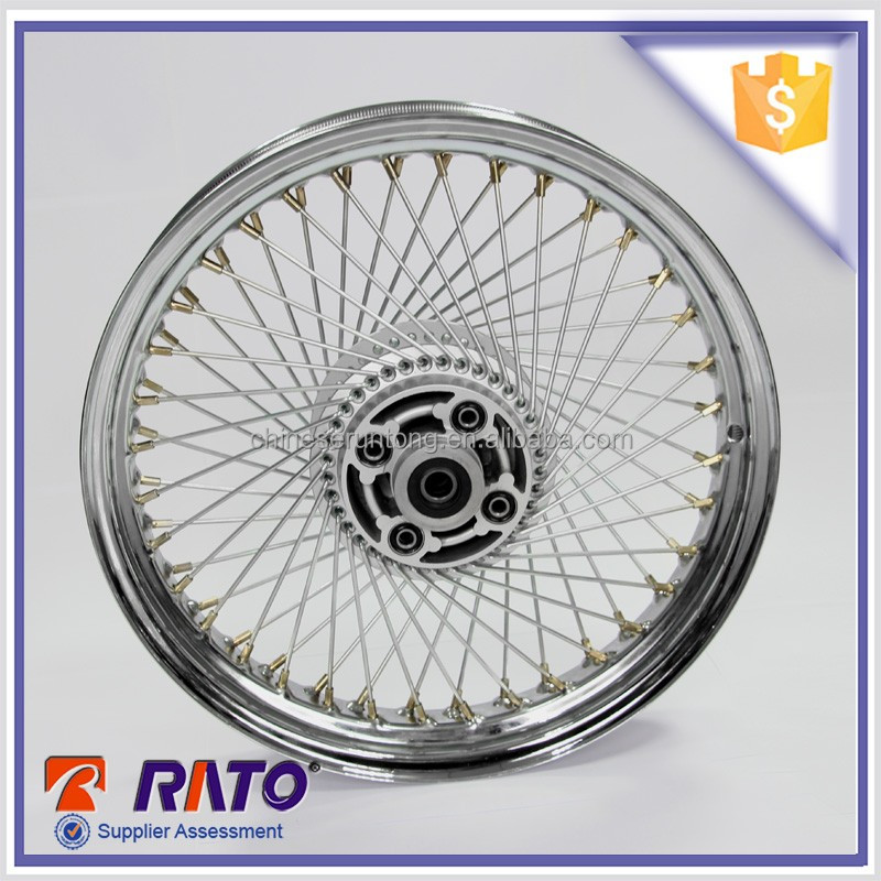 Motorcycle Parts Alloy Aluminum Rear Wheel Rim With Hub And Spokes