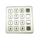Weather Sealed Tactile Digital Keypad 16 Keys Flat Button for Access Control Intercom