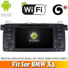 Android 4.4.4 system car dvd radio gps navigation fit for BMW X3 WITH CHIPSET WIFI 3G INTERNET DVR OBD2 SUPPORT