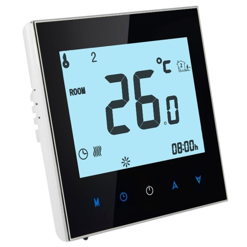 In stock Floor Heating / Water Heating System LCD Display Programmable Room Thermostat(Black) digital temperature <strong>controller</strong>