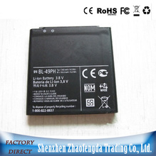 OEM 3.8V high capacity Mobile phone battery 49PH for LG cellphone