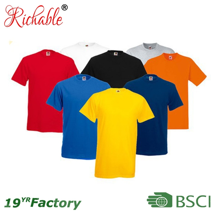 High quality wholesale cotton plain tshirt for china for Bulk quality t shirts