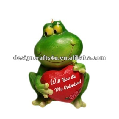 New online valentine gift resin lovely frog crafts and gifts