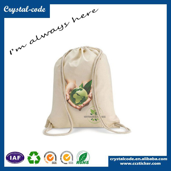Various Cloth Carrying Packaging Wholesale Cotton Fabric Drawstring Bag