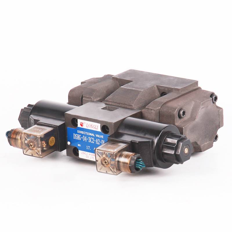 DSHG 04 Yuken electric controlled solenoid hydraulic operated directional control valve 12v with low price
