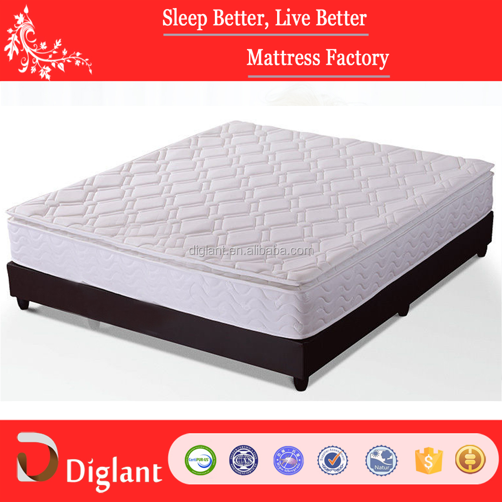 Customized King Size Roll Packing Soft Zoned Coil Spring Mattress