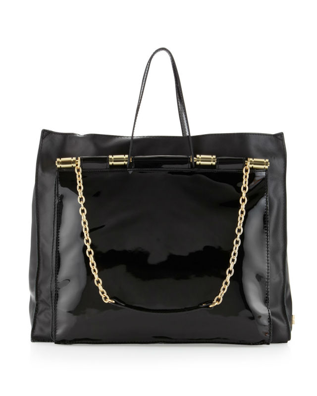 Black patent leather women bag 2013