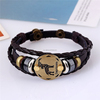 Constellations Fashion Mens Braided Leather Bracelet