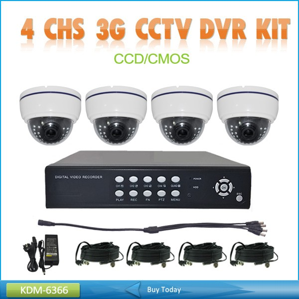New Dome High Definition Camera 30M IR Dome 4CH 3G CCTV Analog Camera Dome Kits