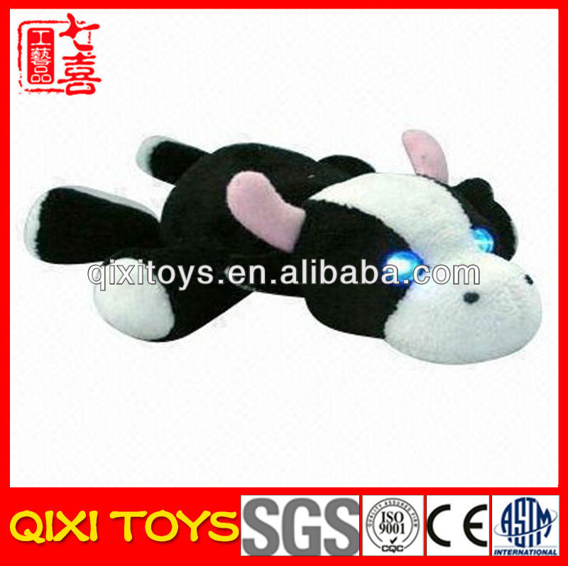 cow plush flashing led toys