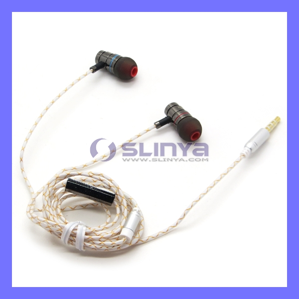 Deep Bass Microbud Aluminum Plastic Cable Earbuds Earphones Mic Headphone For iPhone