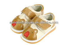 leather squeaky children shoes