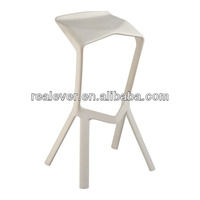Simple design PP clear plastic stacking bar stool