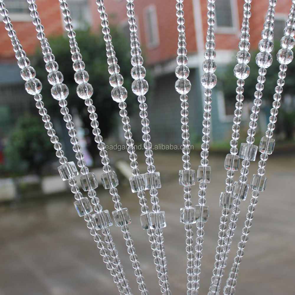 Crystal Garland, Crysal Bead Strands Curtains for Door, Window, Screen, Divider, Home, Party, Wedding, Christmas Decoration