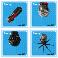 low price high quality multifuctional led flashlight with screw drivers