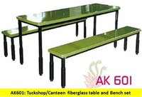 Fiberglass table and bench set