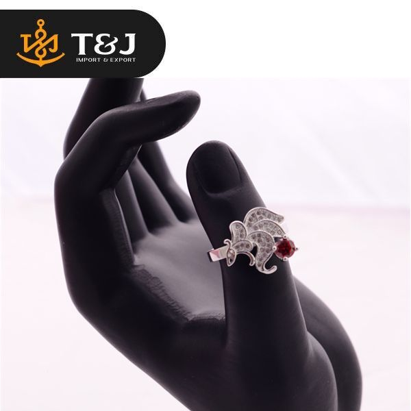 Wholesale Vintage Silver Plated Cluster Ring& Fashion Animal Shape Cute Ring