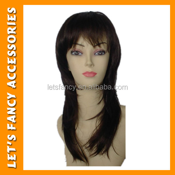 2017 New hair style Black straight women Synthetic Wig PGW0162