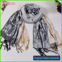 New trend flower woven pashmina shawl scarf