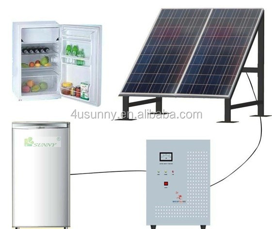12V DC low power consumption solar refrigerator 98L