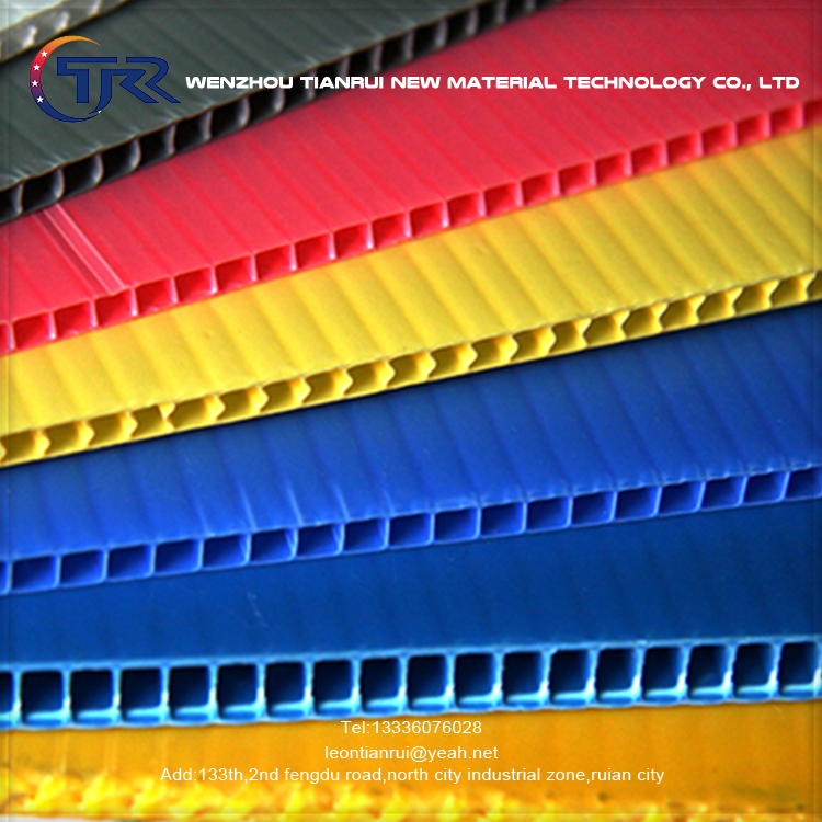 Flame Retardant New Material PP Hollow Sheet For Insulated 4Mm 5Mm