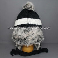 CUSTOM FUR SNOW SKI WINTER HAT
