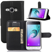 For Samsung Galaxy J1 2016 J120 J120F Case Luxury Wallet PU Leather Stand Flip Card Holder