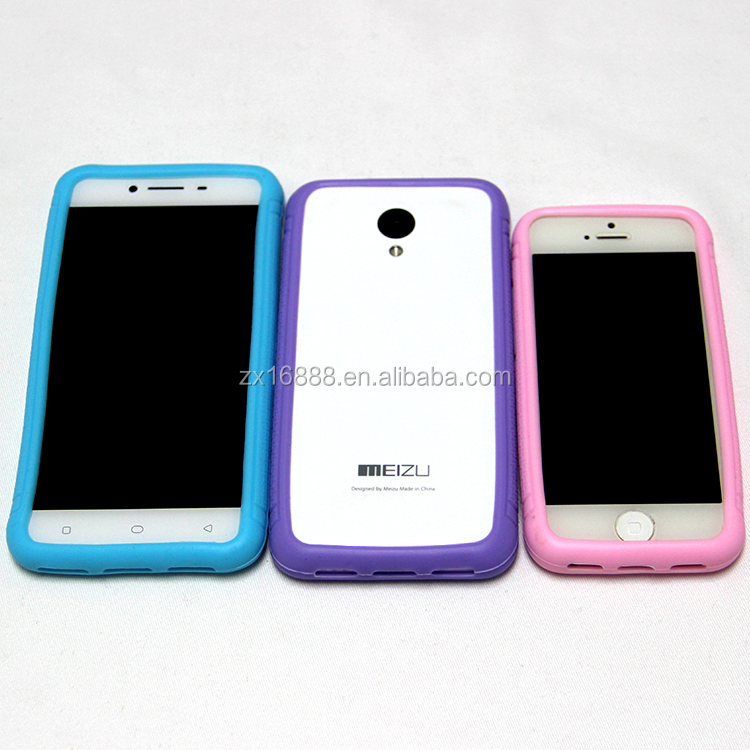 Universal Silicone Phone CASE Border Protective Cover Silicone Frame Case for iphone and android