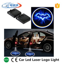 Universal Wireless Car Led Door Welcome Light Auto Battery Operated Laser Projector Logo Ghost Shadow Bat Man Interior Lamp