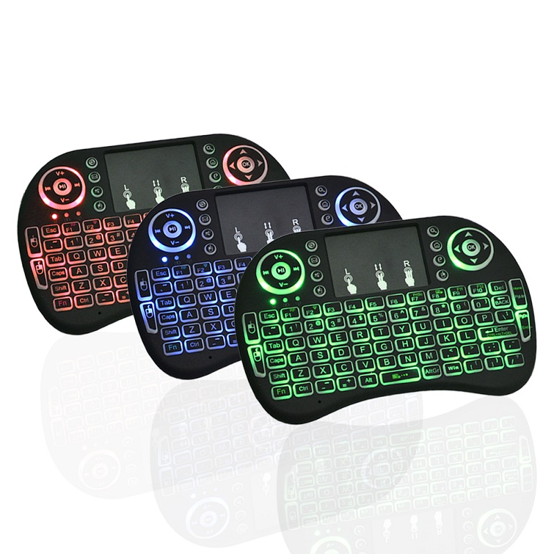 3 backlit 2.4G Remote Control Mini Wireless Kerbord Air Mouse I8 Keyboard For Android TV Box And Laptop